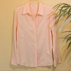 Banana Republic Shadow Stripe Button Up Shirt